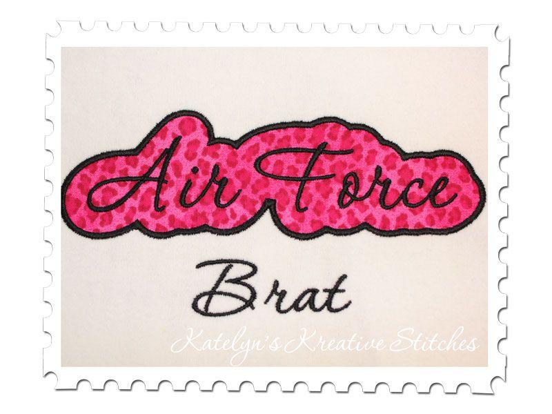 Air Force Brat Applique