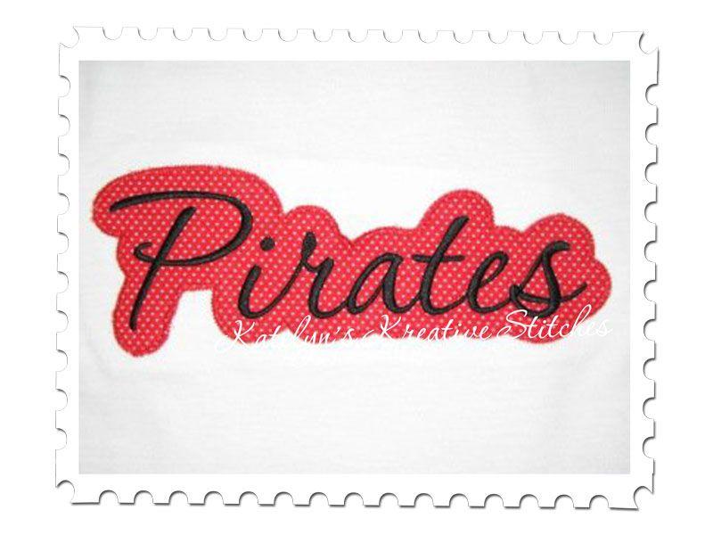 Pirates Applique Script